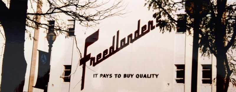 Freedlander's Storefront circa 1960s
