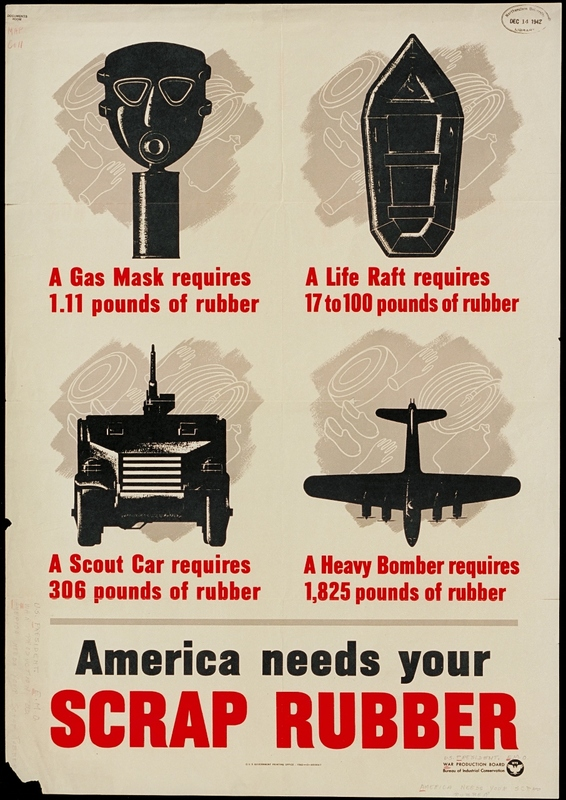 """""""America Needs Your Scrap Rubber"""" Poster"""