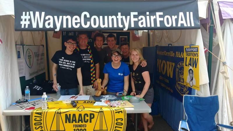 #WayneCountyFairForAll Booth
