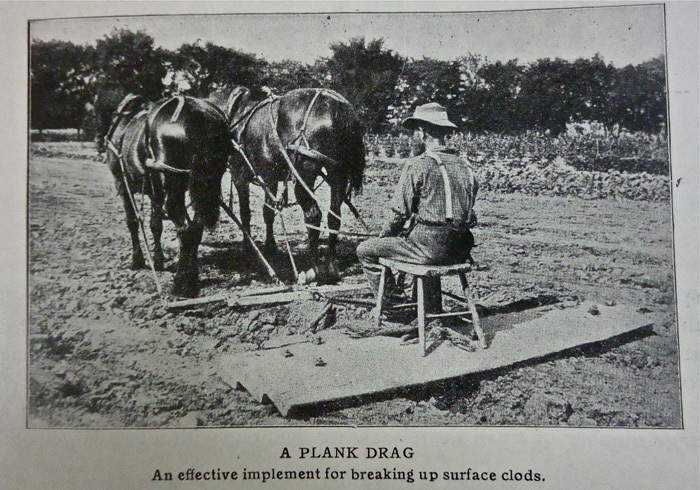 Demonstration of a Plank Drag, 1904