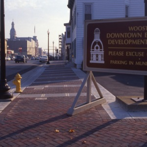 Downtown Wooster Economic Development Project Sign