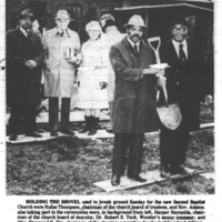 Second Baptist Ground Breaking Ceremony
