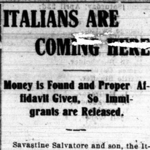 """1910 Wooster Daily News Article """"Italians Are Coming Here"""""""