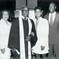 Reverend Leroy Adams with his Family
