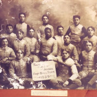 1899 Wooster High School Football Team Photo
