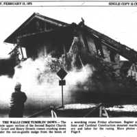 Razing the Second Baptist Church Building, 1975
