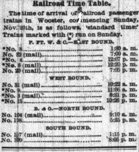 Railroad Timetables Clip