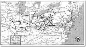 B&O System Map, 1940's