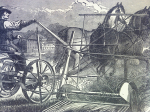 Side View of an Excelsior Mower, 1873